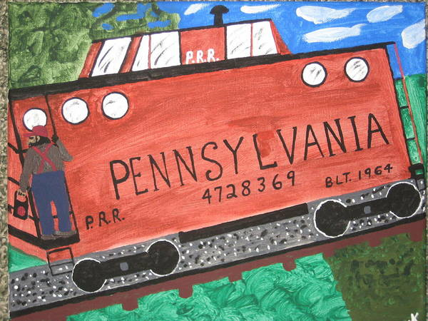 Train Poster featuring the painting Side Tracked In Pa. by Jeffrey Koss