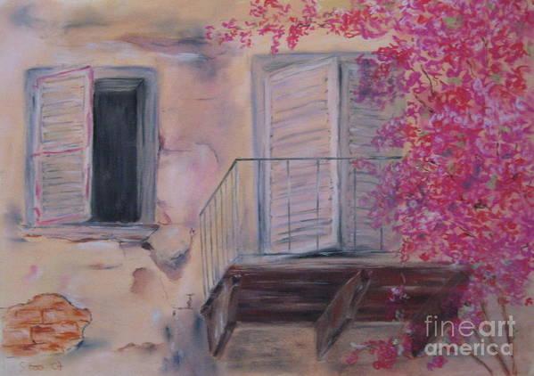 Siesta Poster featuring the painting Siesta by Sabina Haas