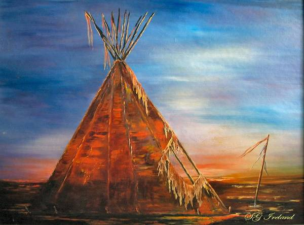 Native American Poster featuring the painting Silence by Sue Ireland