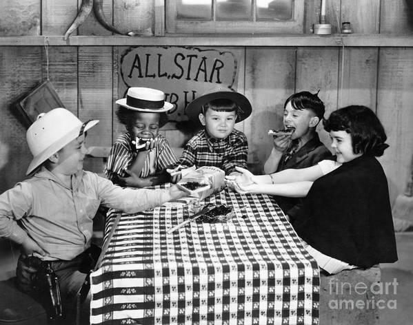 -children- Poster featuring the photograph Little Rascals by Granger
