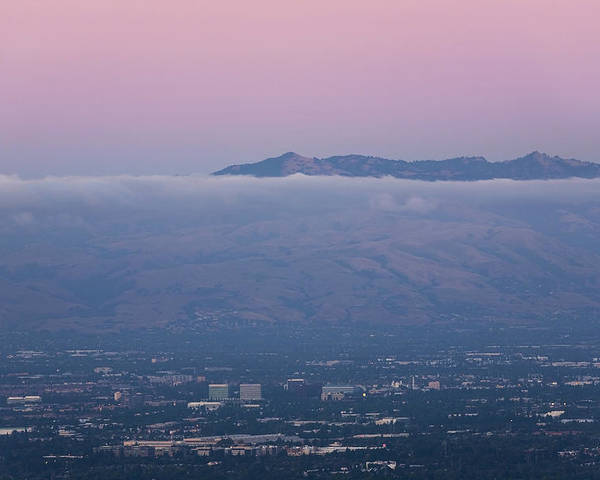 California Poster featuring the photograph Silicon Valley At Dusk by Matt Tilghman