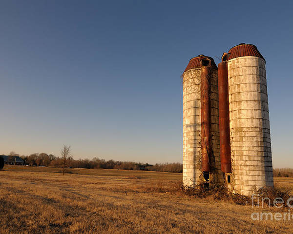 Silos Poster featuring the photograph Silos 1 by Miguel Celis