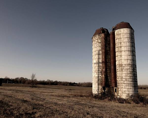 Silos Poster featuring the photograph Silos 2 by Miguel Celis