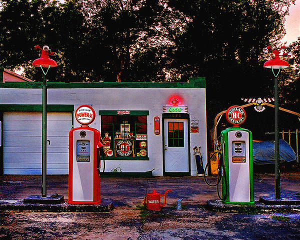 Gas Station Poster featuring the photograph Sinclair by Steve Karol