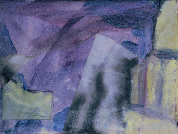 Abstract Poster featuring the painting Singing The Blues by Kevin Stevens