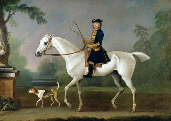 Sir Poster featuring the painting Sir Roger Burgoyne Riding 'badger' by James Seymour