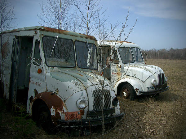 Trucks Poster featuring the photograph Sisters by Tim Nyberg