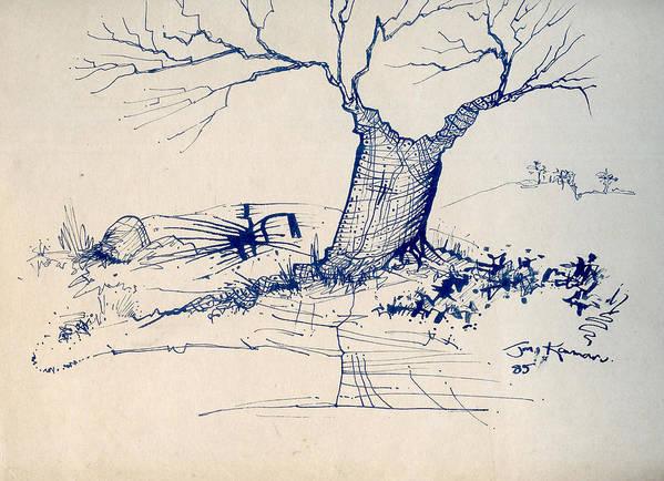 J Kamaru Poster featuring the drawing Sketch 6 by Joan Kamaru