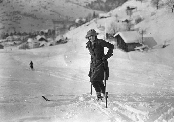 Mid Adult Poster featuring the photograph Skiing by Brooke