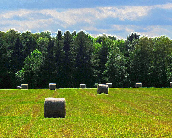 Landscape Poster featuring the photograph Sky Above The Hay Rolls Ae3 by Lyle Crump