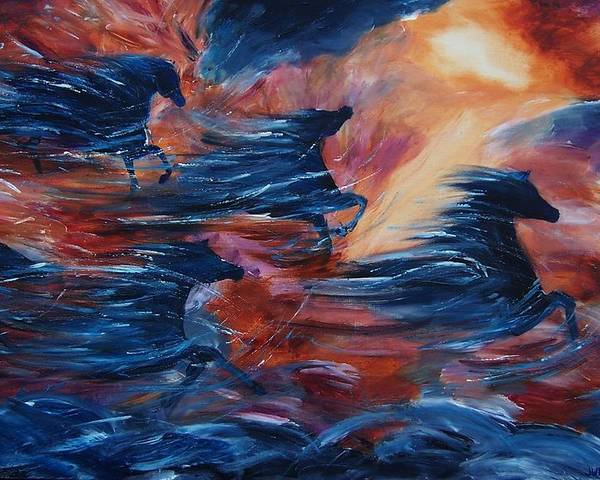 Abstract Poster featuring the painting Sky Song by Jennifer White