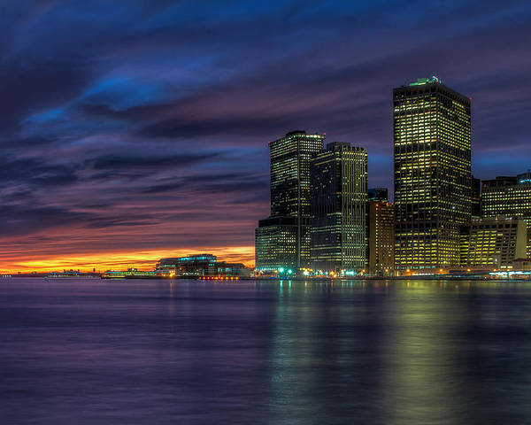 Skyline Poster featuring the photograph Skyline Sunset by Mike Deutsch