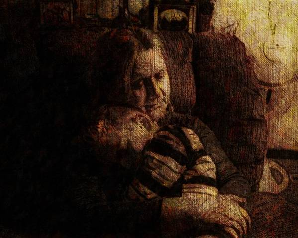 Portrait Poster featuring the digital art Sleep My Little One by Rosemary McGahey