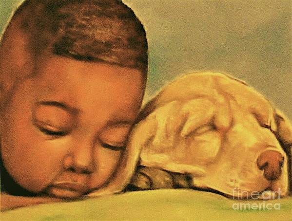 Babies Poster featuring the pastel Sleeping Beauties by Curtis James