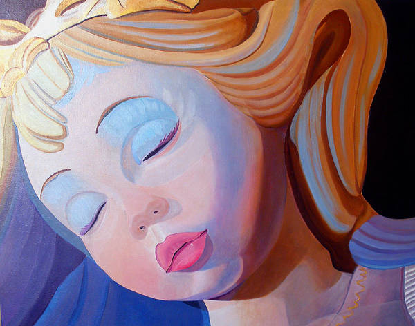 Doll Poster featuring the painting Sleeping Beauty by JoeRay Kelley