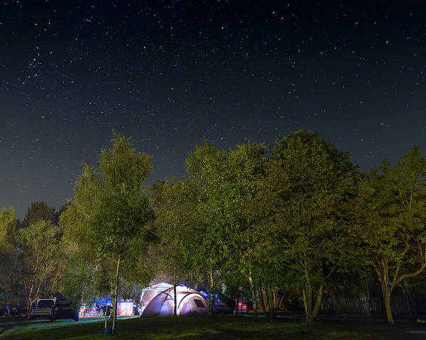 Camping Poster featuring the photograph Sleeping Under The Stars by Jamie McConnachie