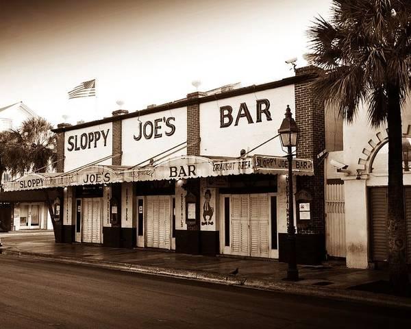 Sloppy Joe's Poster featuring the photograph Sloppy Joe's - Key West Florida by Bill Cannon