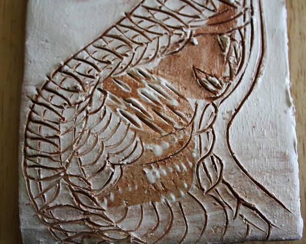 Jesus Poster featuring the ceramic art Slumber - Tile by Gloria Ssali