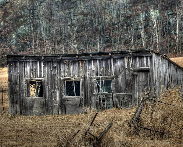 Rcouper Poster featuring the photograph Small Farm Shed by Rick Couper