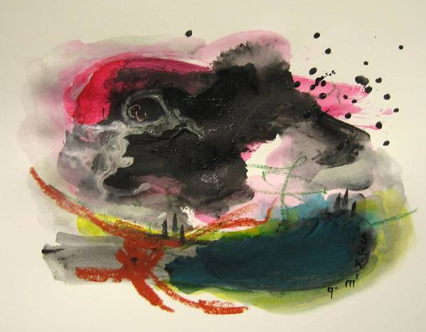 Abstract Paintings Poster featuring the painting Small Landscape12 by Seon-Jeong Kim