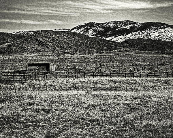 Colorado Poster featuring the photograph Small Ranch Colorado Foothills by Roger Passman