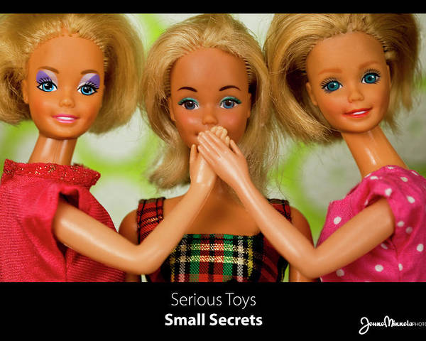 Toy Poster featuring the photograph Small Secrets by Jouko Mikkola