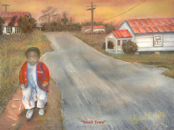 Urban Poster featuring the painting Small Town by Lee Hood