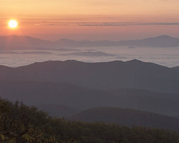 Smokeymountains Poster featuring the photograph Smokey Sunset by Keith May