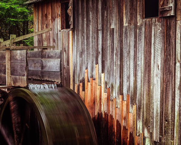 Mill Poster featuring the photograph Smokies Mill by Andrew Soundarajan