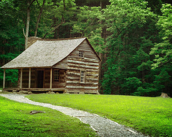 Cabin Poster featuring the photograph Smoky Mountain Living by Josh Spengler