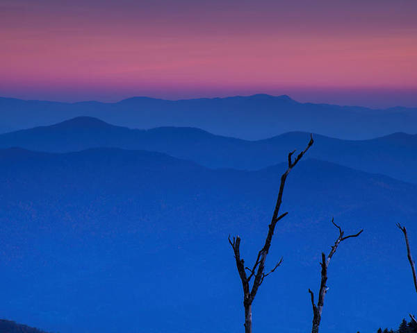 Sunset Poster featuring the photograph Smoky Mountain Sunset by Andrew Soundarajan