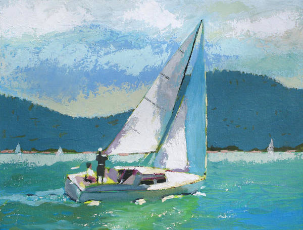 Boat Poster featuring the painting Smooth Sailing by Robert Bissett
