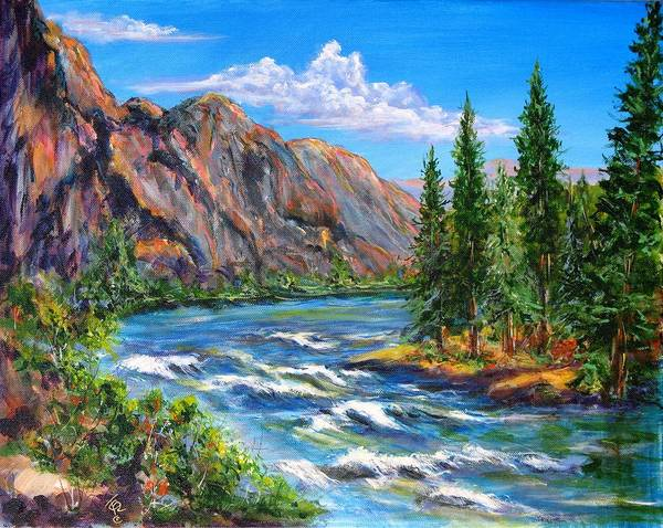 Landscape Poster featuring the painting Snake River by Thomas Restifo