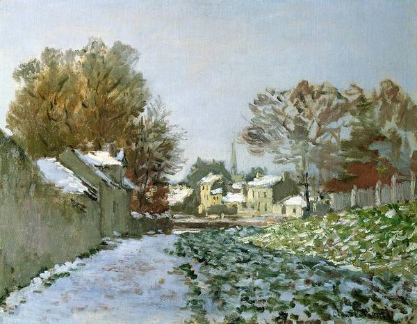 Snow Poster featuring the painting Snow At Argenteuil by Claude Monet