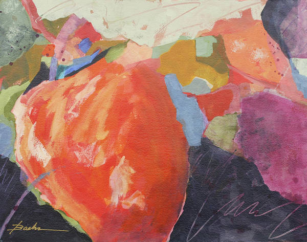 Abstract Poster featuring the painting So Juicy by Marie Baehr