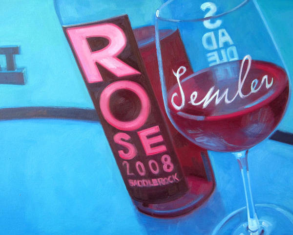 Wine Painting Poster featuring the painting So Malibu by Penelope Moore