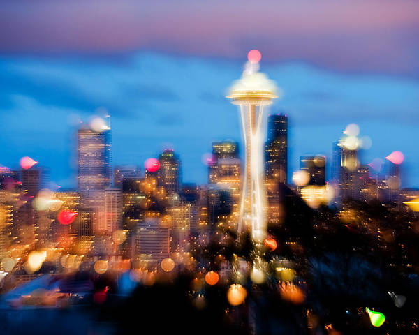 Seattle Poster featuring the photograph Soft Color Night by Yoshiki Nakamura