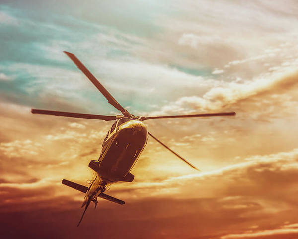 Photography Poster featuring the photograph Soft Sunset Landing by Bob Orsillo
