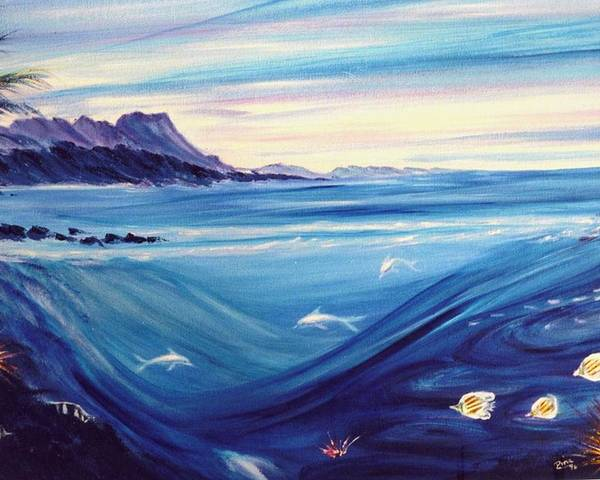 Islands Poster featuring the painting Sokehs Dawn by Dina Holland