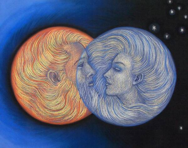 Solar Eclipse Poster featuring the painting Solar Eclipse by Sue Halstenberg