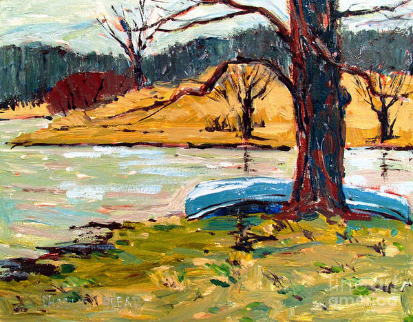 Landscape Poster featuring the painting Sold Donnie Myers Pond by Charlie Spear