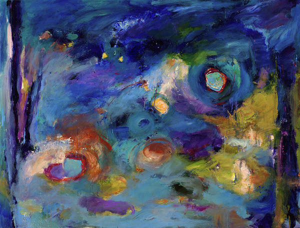 Abstract Art Poster featuring the painting Solitude Of Dreams by Johnathan Harris