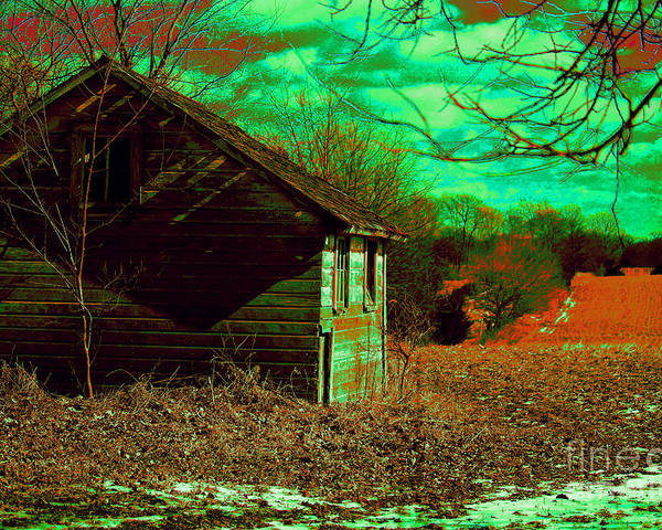 Farmland Poster featuring the photograph Solitude On The Backroads In Neon by Laura Birr Brown