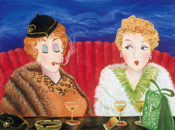Cocktails Poster featuring the painting Some Like It Hot by Susan Rinehart