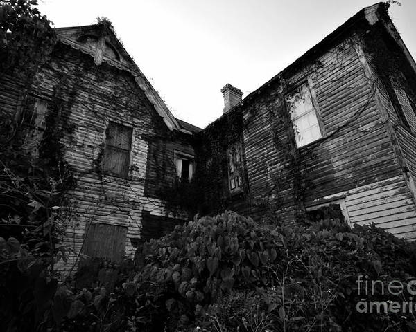 Spooky Poster featuring the photograph Something In The Window by David Lee Thompson