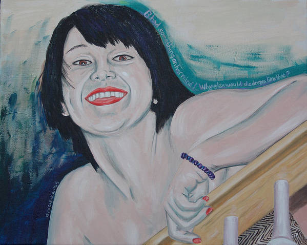 Kevin Callahan Poster featuring the painting Something On Her Mind by Kevin Callahan