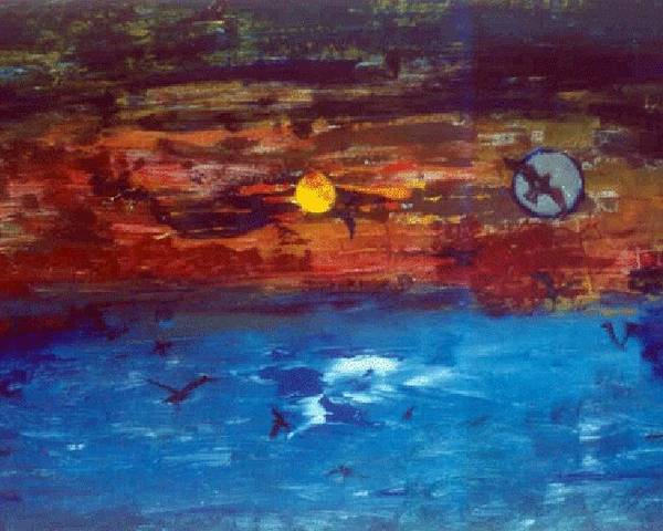 Soul Poster featuring the glass art Soul Journey.. by Rooma Mehra