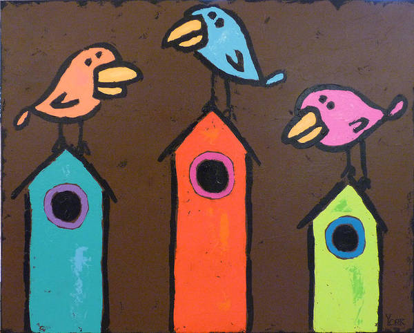 Birds Poster featuring the painting South For The Winter by Ron York