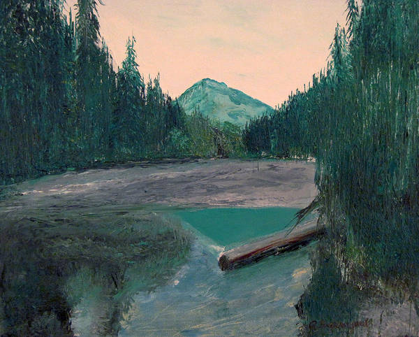South Fork River Poster featuring the painting South Fork by Richard Beauregard