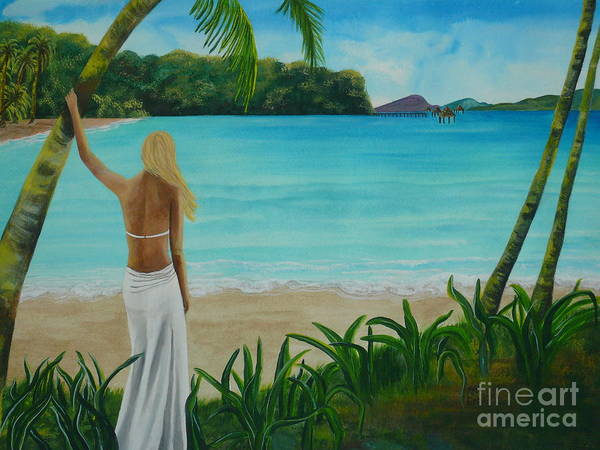Tropical Poster featuring the painting South Pacific Dreamin by Kris Crollard